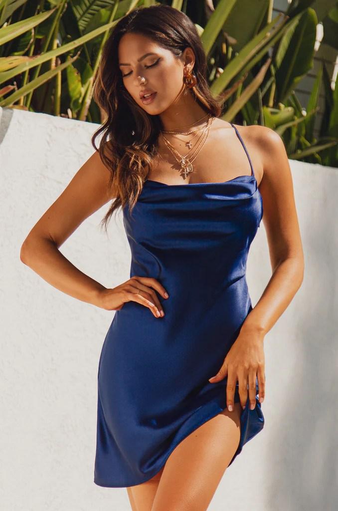 Santorini Sunsets Dress - Navy 8