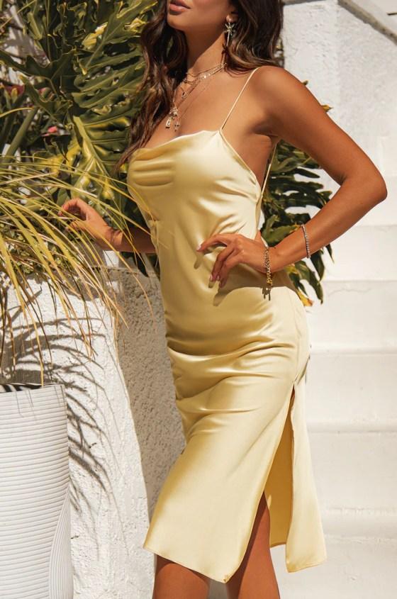 Sun Goddess Dress - Nude 12