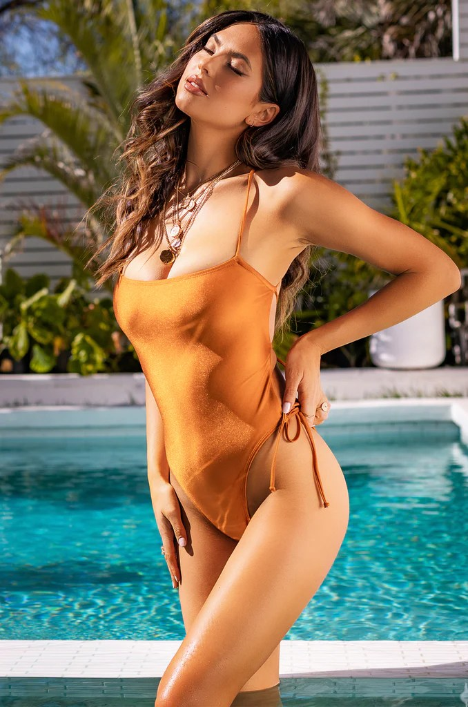 Bronzed Babe Swimsuit - Rust 3