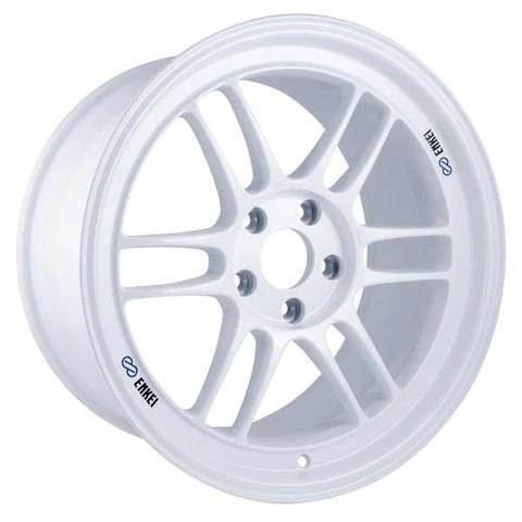 35 silver wheel 17x9 enkei rpf1 5x114 3