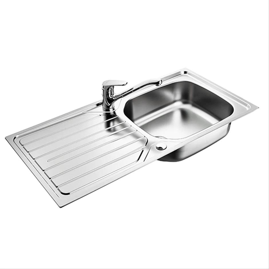 armitage shanks sandringham 1000mm stainless steel kitchen sink pack