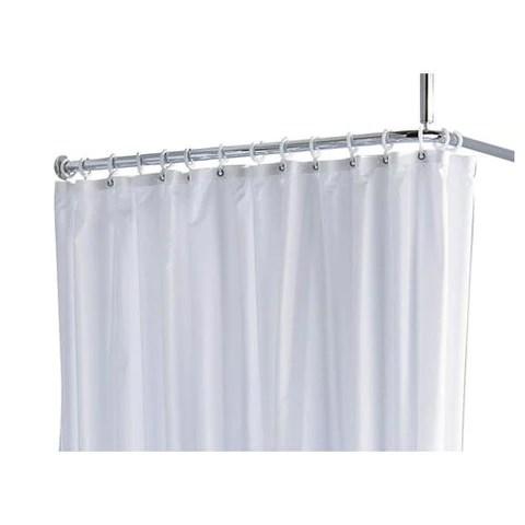 keuco plan shower curtain plan with white curtain rings 14944