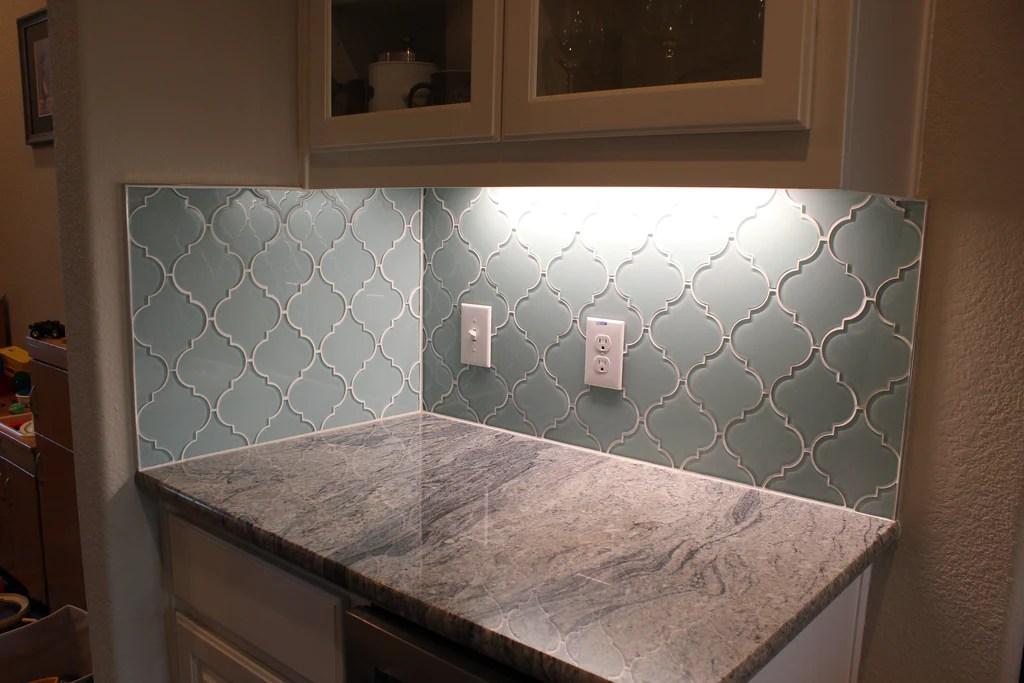 tiles small sample seafoam arabesque