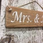 Wedding Sign Mrs Mrs Reclaimed Wood Sign