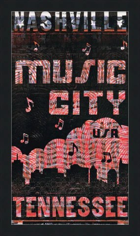 framed music city cloud make ready poster