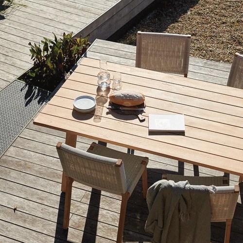 devon st clair teak outdoor dining table 2200