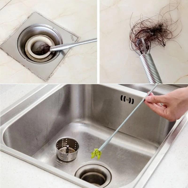 2pcs drain sink hair cleaner dredge