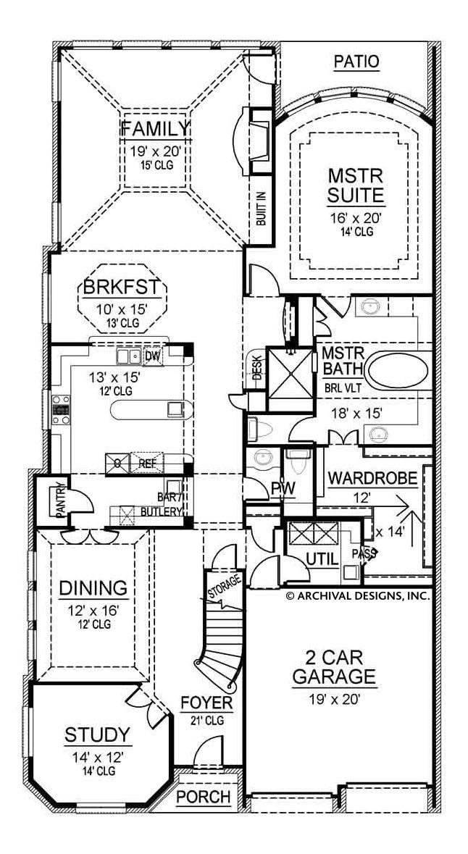 Blackburn Narrow House Plans Luxury House Plans