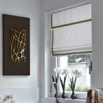 Relaxed Roman Shades With Valance And Classic Blue Or Green Border Loganova Shades