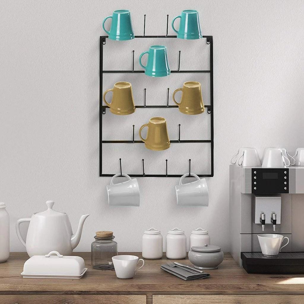5 tier wall mounted mug rack sorbus home