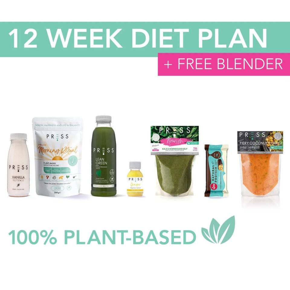 12 Week Diet Plan | PRESS Health Foods | Juice Cleanses, Diet ...