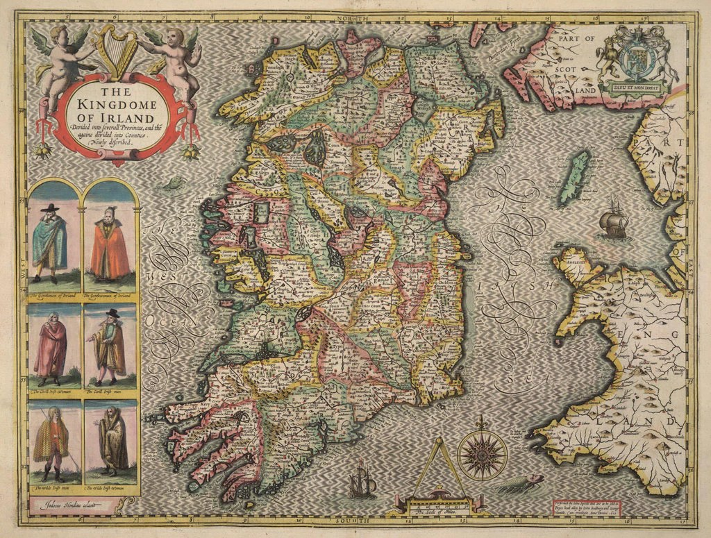 Map of Ireland posters   prints by John Speed Detail of Map of Ireland by John Speed