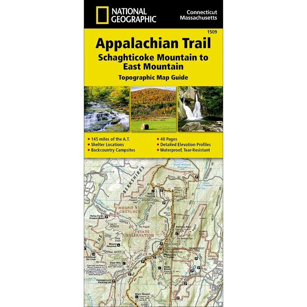 Appalachian Trail, Schaghticoke Mountain to East Mountain [Connecticut, Massachusetts] Trail Map (#1509)
