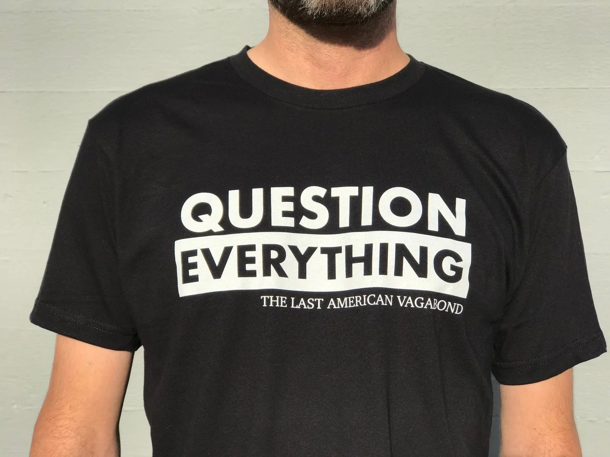 Question Everything Black – Truth Revolution Clothing