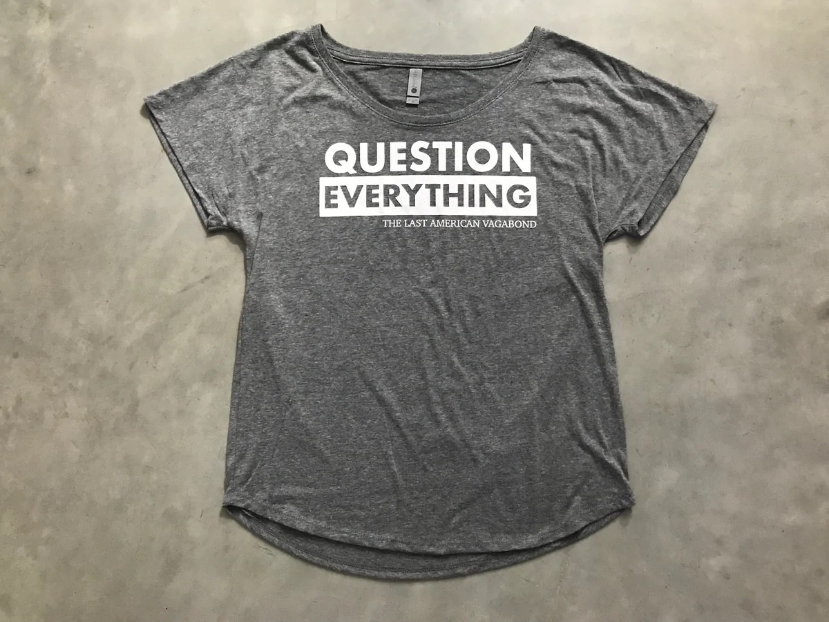 Question Everything Slouchy – Truth Revolution Clothing