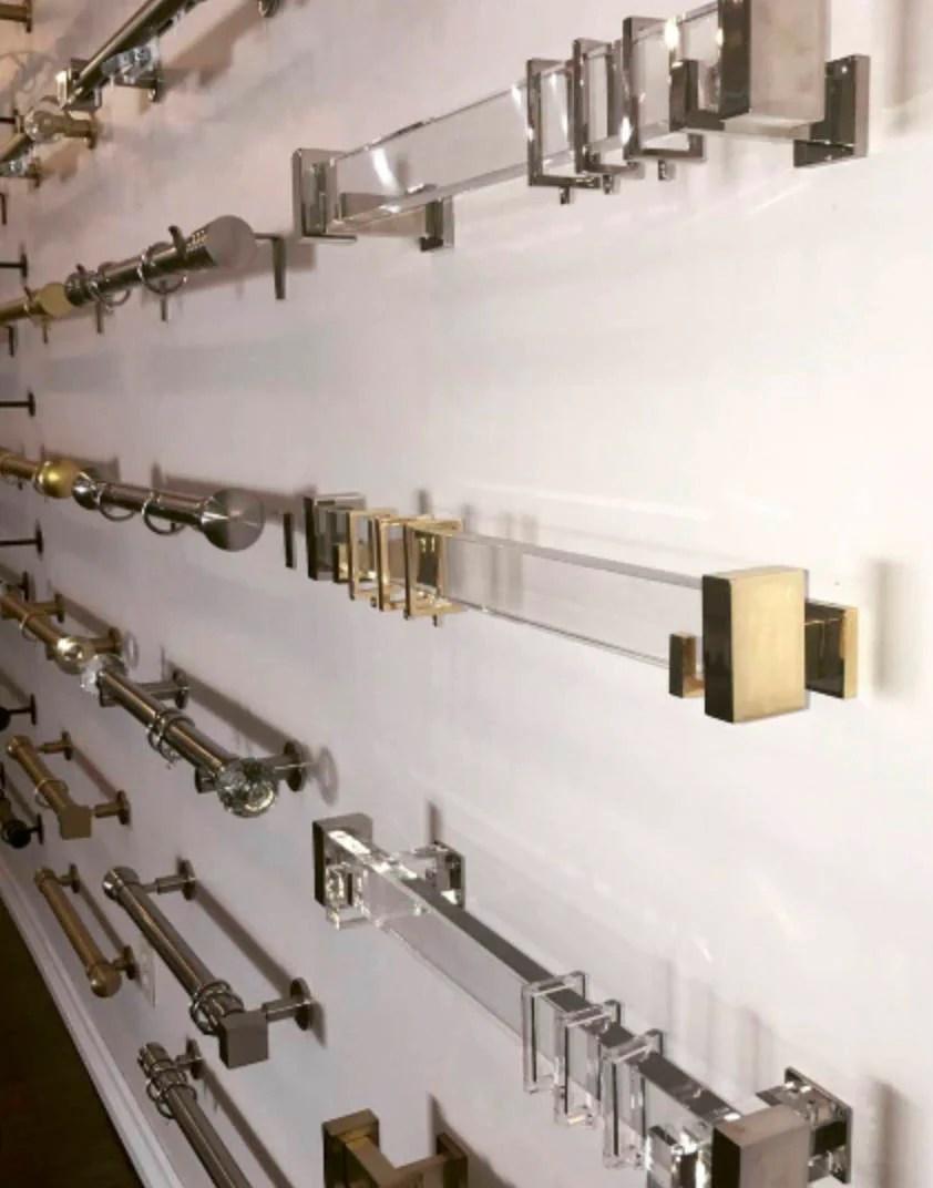lucite curtain rod custom cut brass gold curtain rectangle acrylic curtain rod gold curtain rod clear curtain lucite rod