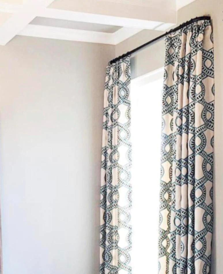 french return curtain rod custom cut