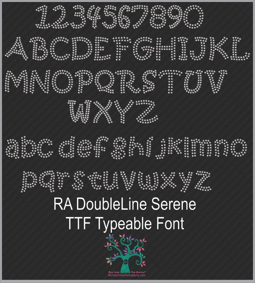 Download Font Pack 19 Download Only TTF Rhinestone Fonts ...