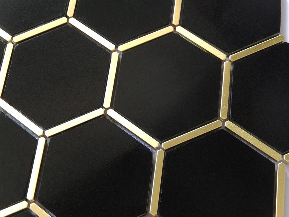 gold trim black