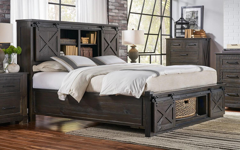a america sun valley cal king bed storage headboard w rotating storage