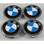 4x 60mm Bmw Blue White Wheel Center Caps 6 Side Auto