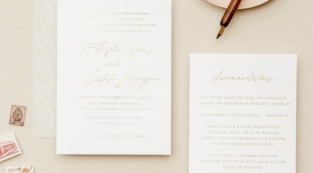 Formal Wedding Invitation Wording: Samples & Pro Tips - Lily & Roe Co.
