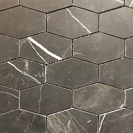nero marquina marble tile piece