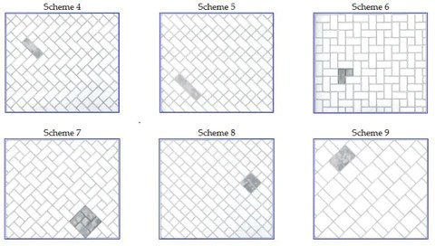 tile combination and layout ideas
