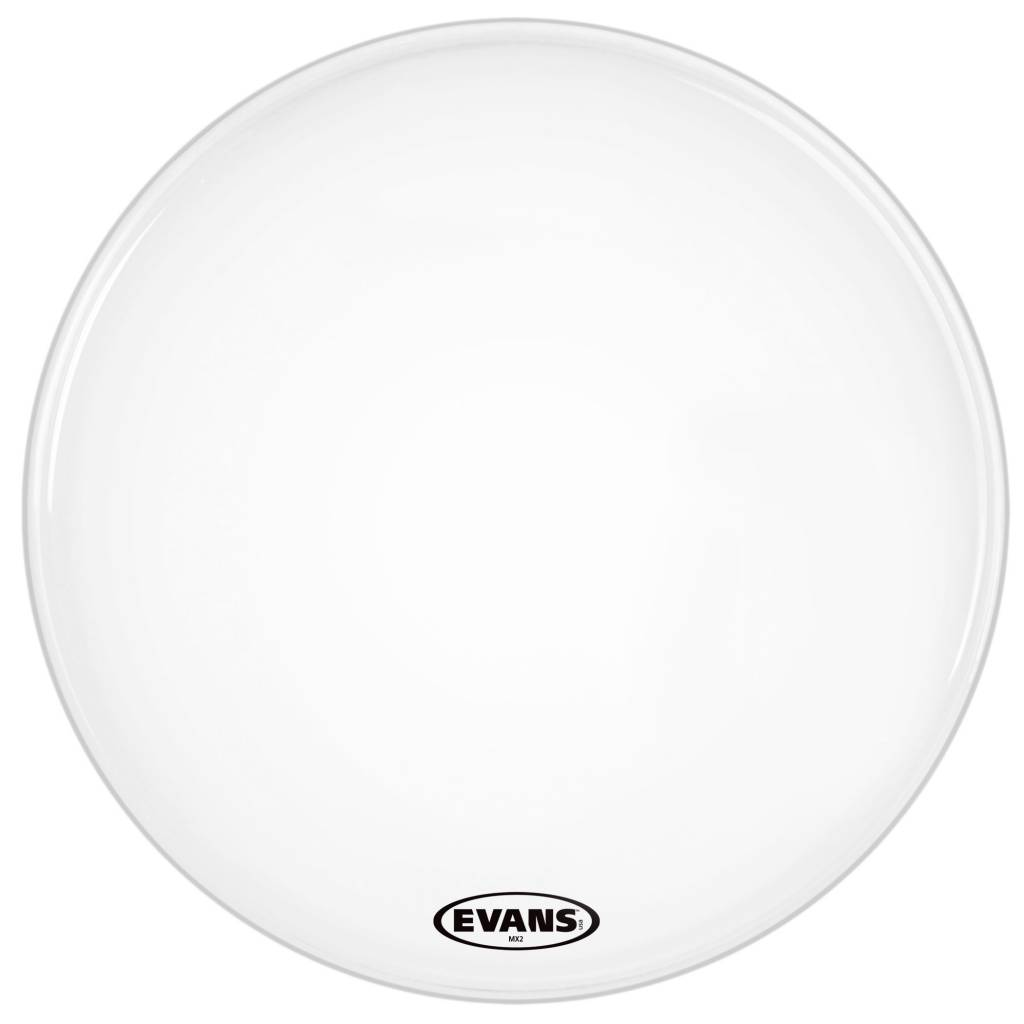 Evans Mx2 White Marching Bass Drum Head 26