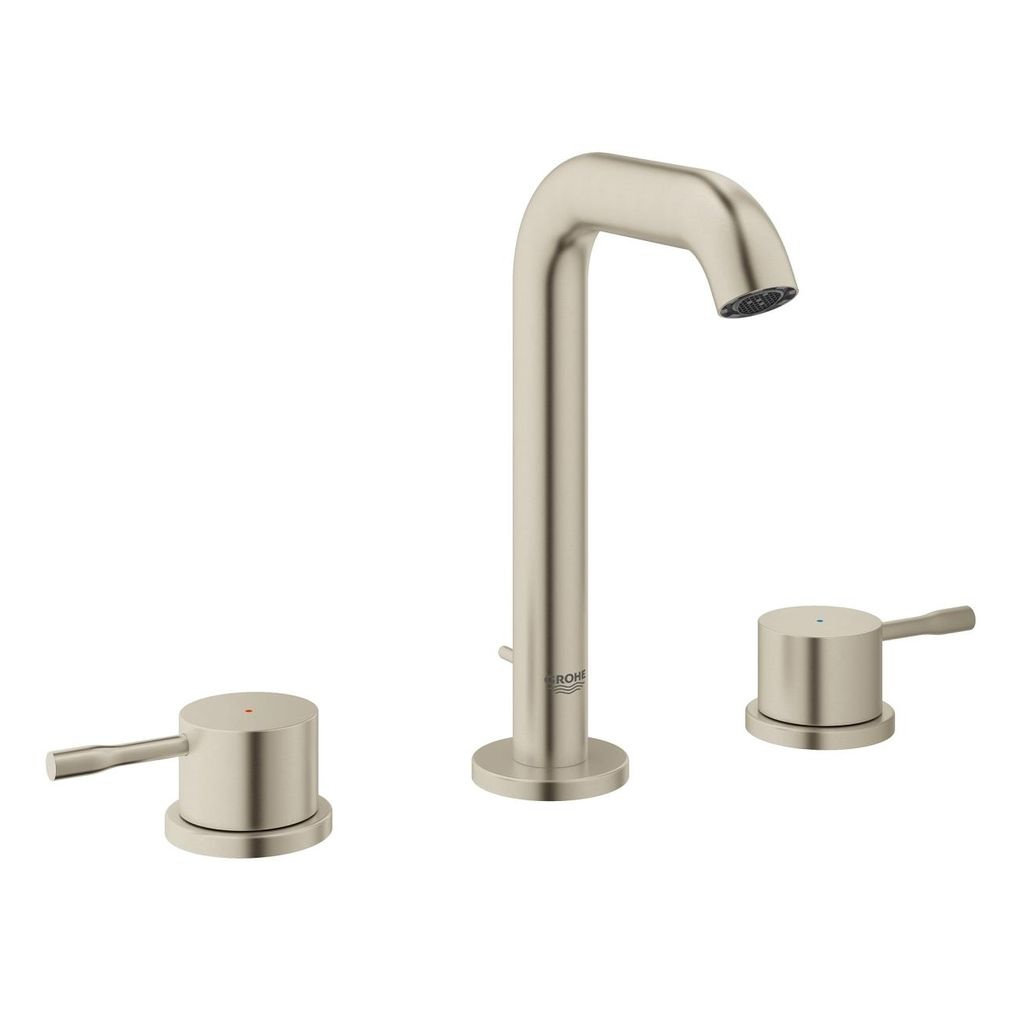 grohe 20297ena essence 8 widespread m size bathroom faucet brushed nickel