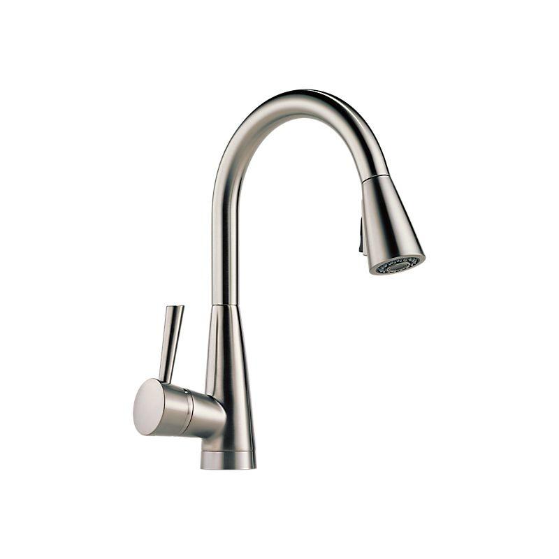 brizo 63070lf venuto single handle pull down kitchen faucet