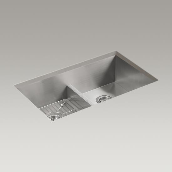 kohler k3838 vault 33 x 22 undermount double kitchen sink