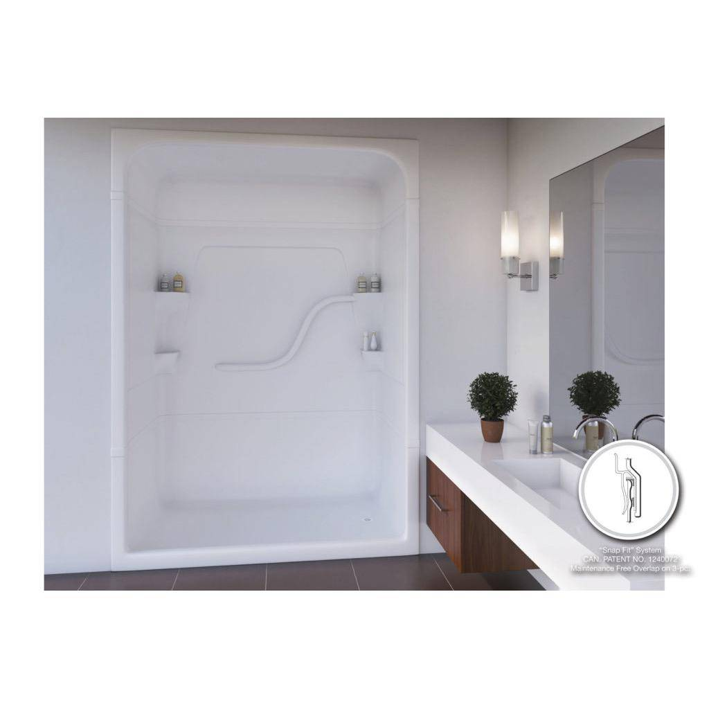 Mirolin Sh53 Madison 5 Multi Piece Shower Stall Without Seat Left