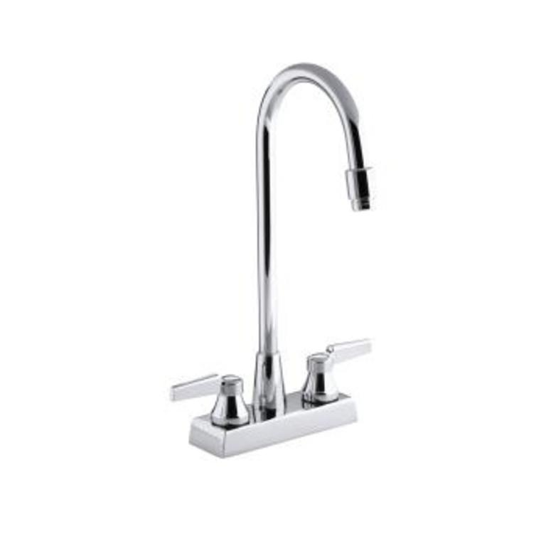 kohler kohler 7305 k cp triton centerset lavatory faucet with aerator requires handles less drain and lift rod