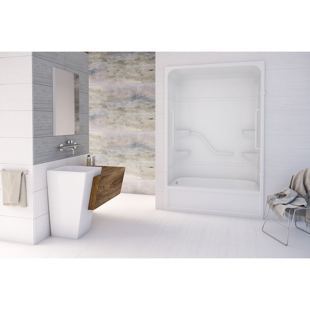 Mirolin Fpl16l R Parker 16 Free Living Series One Piece Shower White Bars