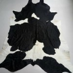Black White Cowhide Rug From Cactus Creek
