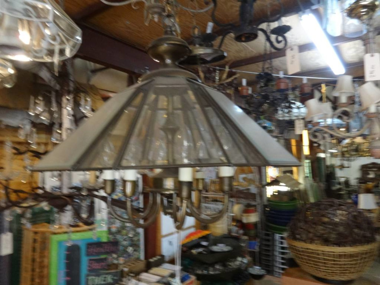 8 light clear glass octagon chandelier