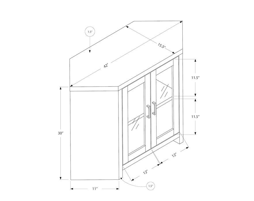 monarch meuble tv en coin 42 blanc et portes vitrees