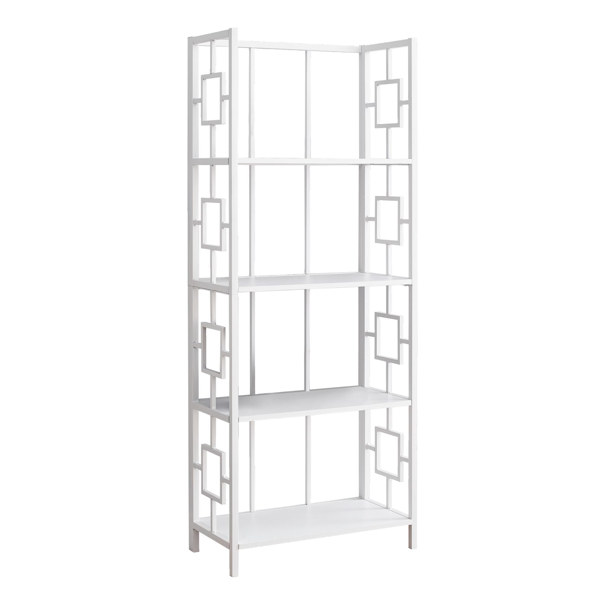 etagere 62 h blanc et metal blanc