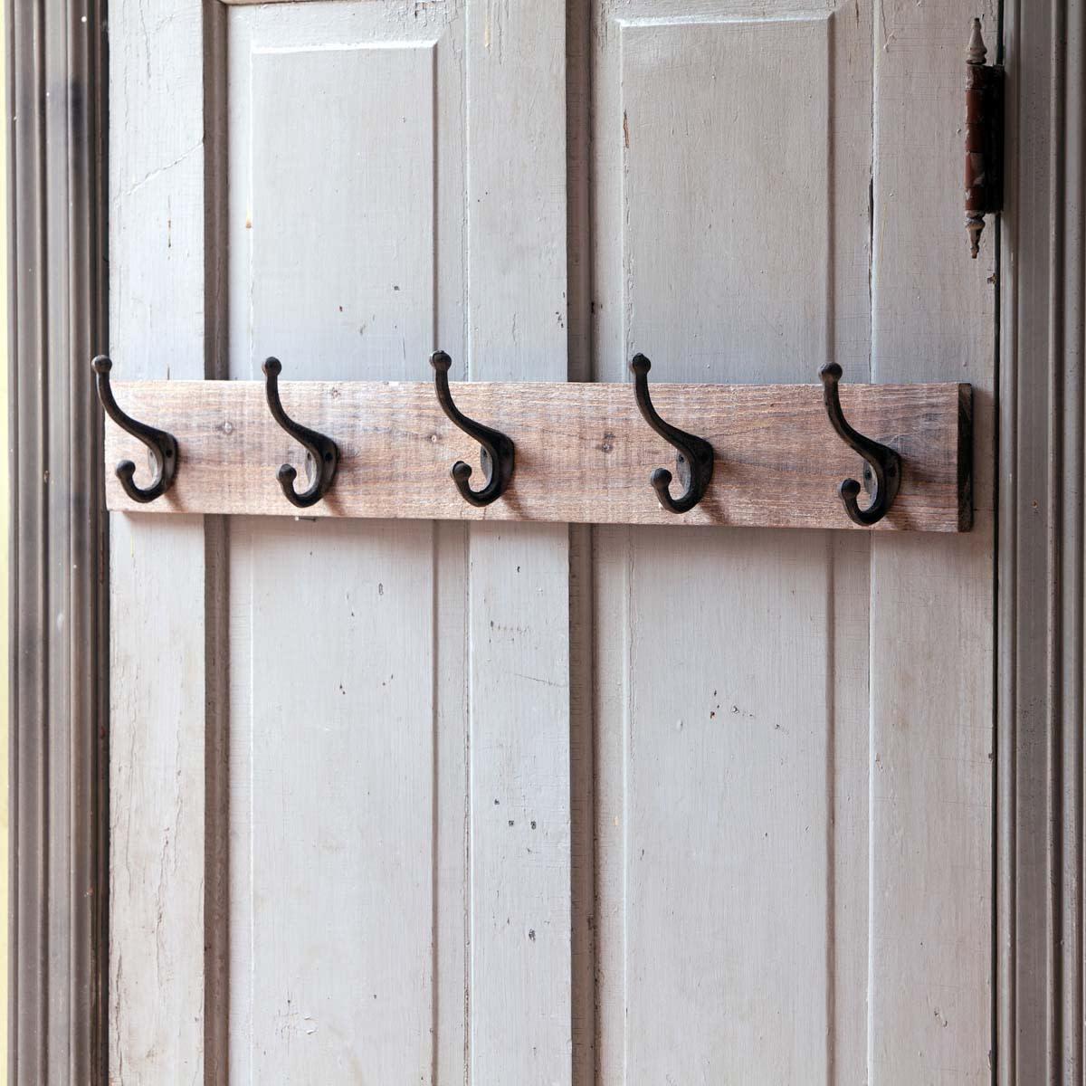30 rustic reclaimed wood coat rack