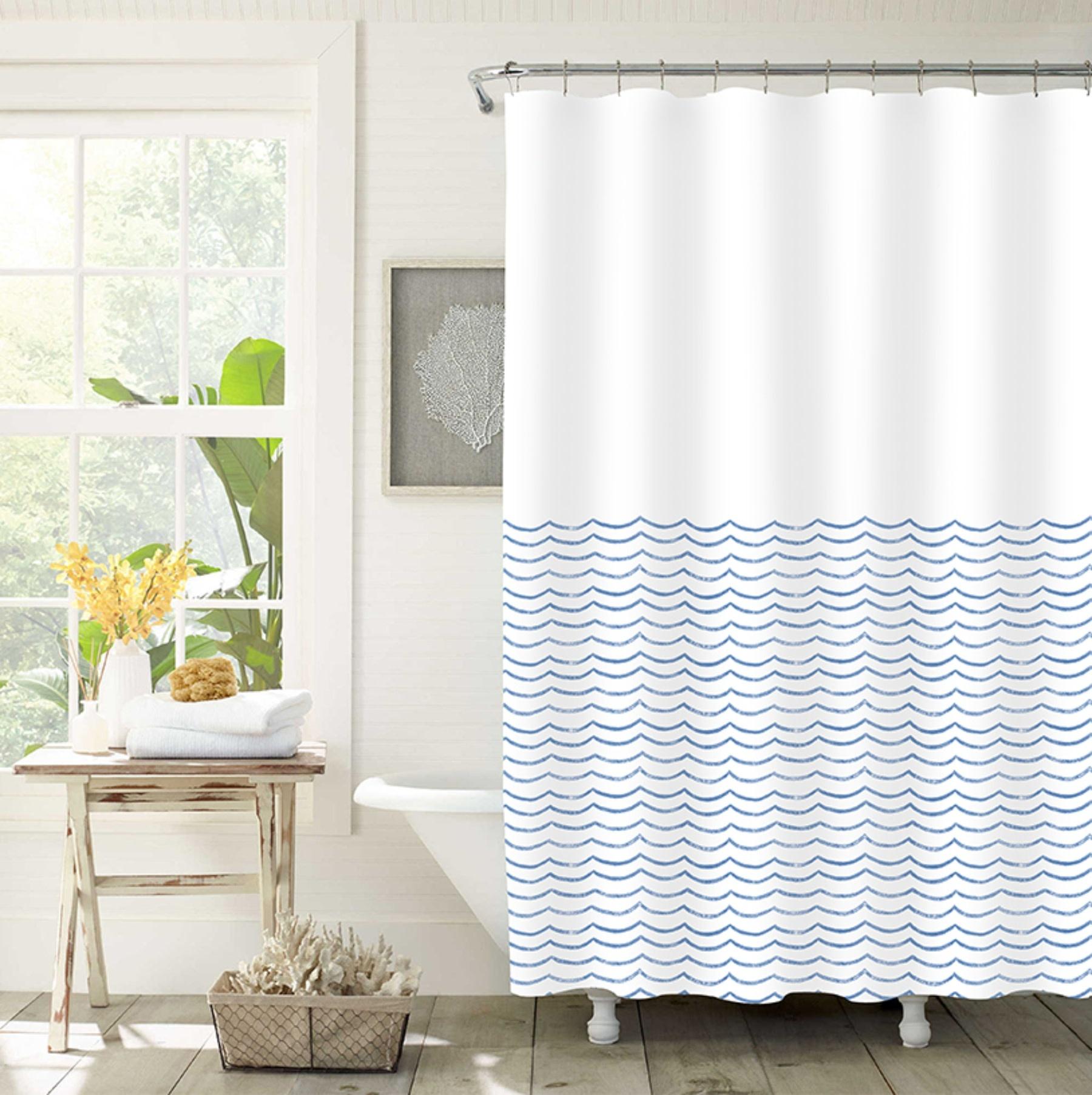 lauren taylor waves shower curtain ast 70x72 mp12