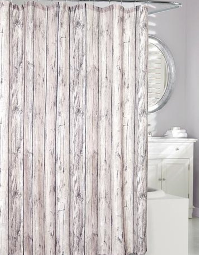 Moda At Home Oakwood Look Fabric Shower Curtain 70x72