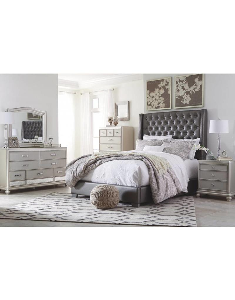 coralayne 6 pc king uph bedroom set