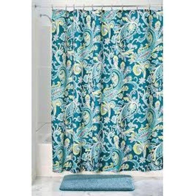 interdesign fabric shower curtain harper paisley