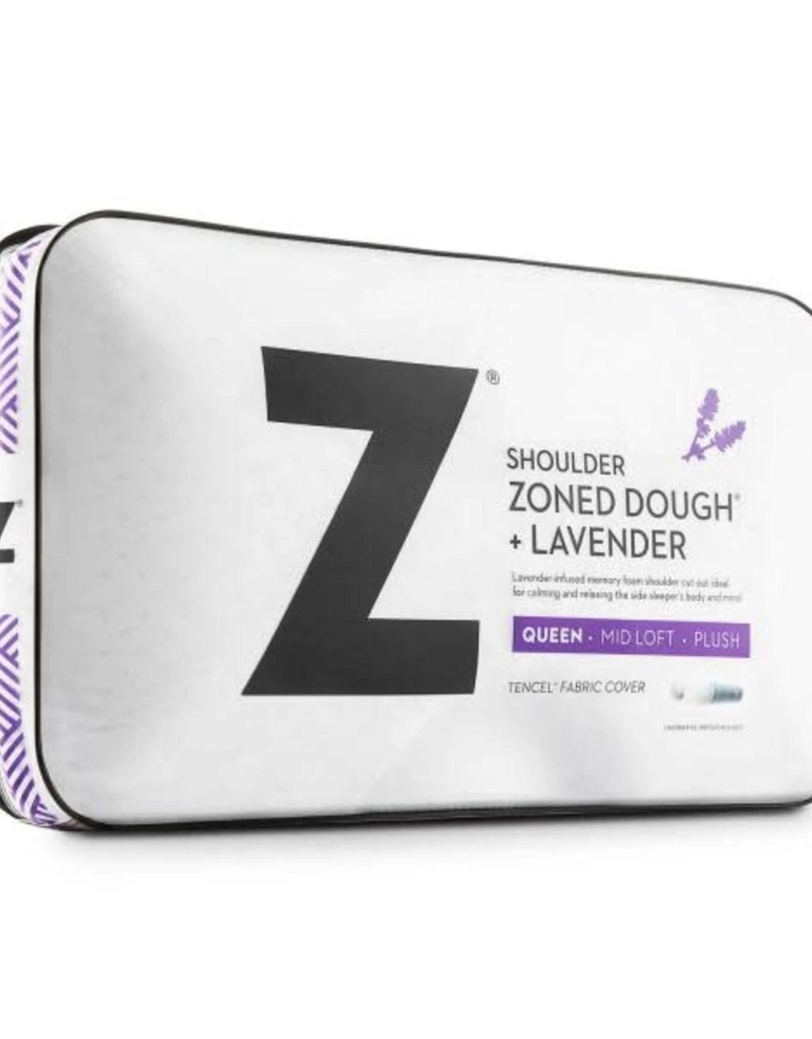 malouf z shoulder cutout zoned dough pillow lavender
