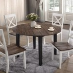 A La Carte Farmhouse Round Dining Table W 4 Chairs Bargain Box And Bunks