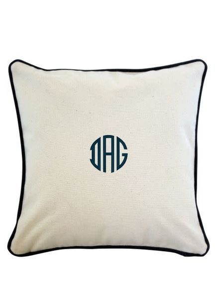 monogrammed pillow case initial