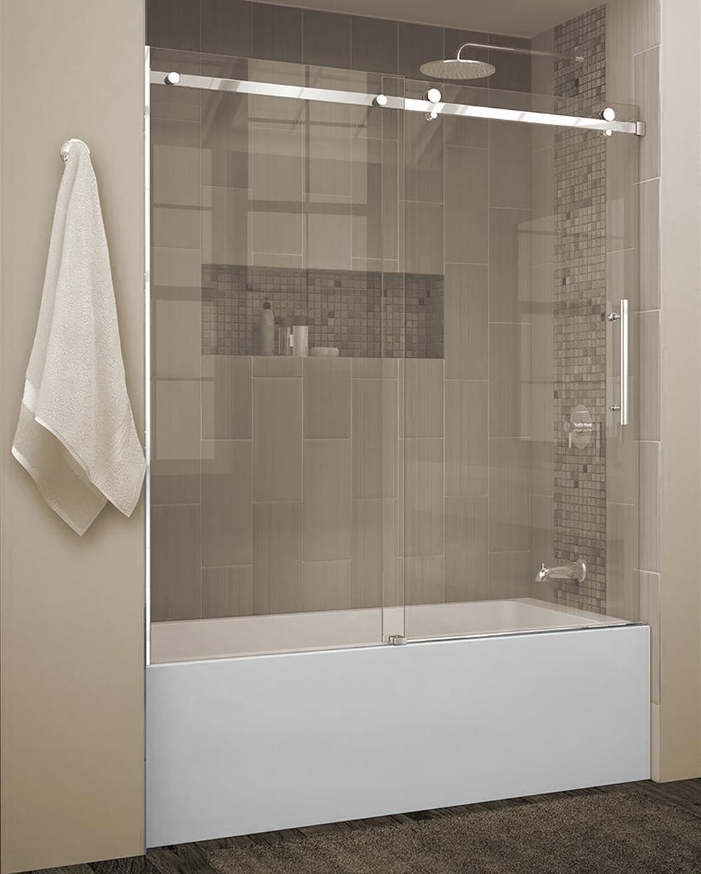 ecran de bain quartz shield chrome