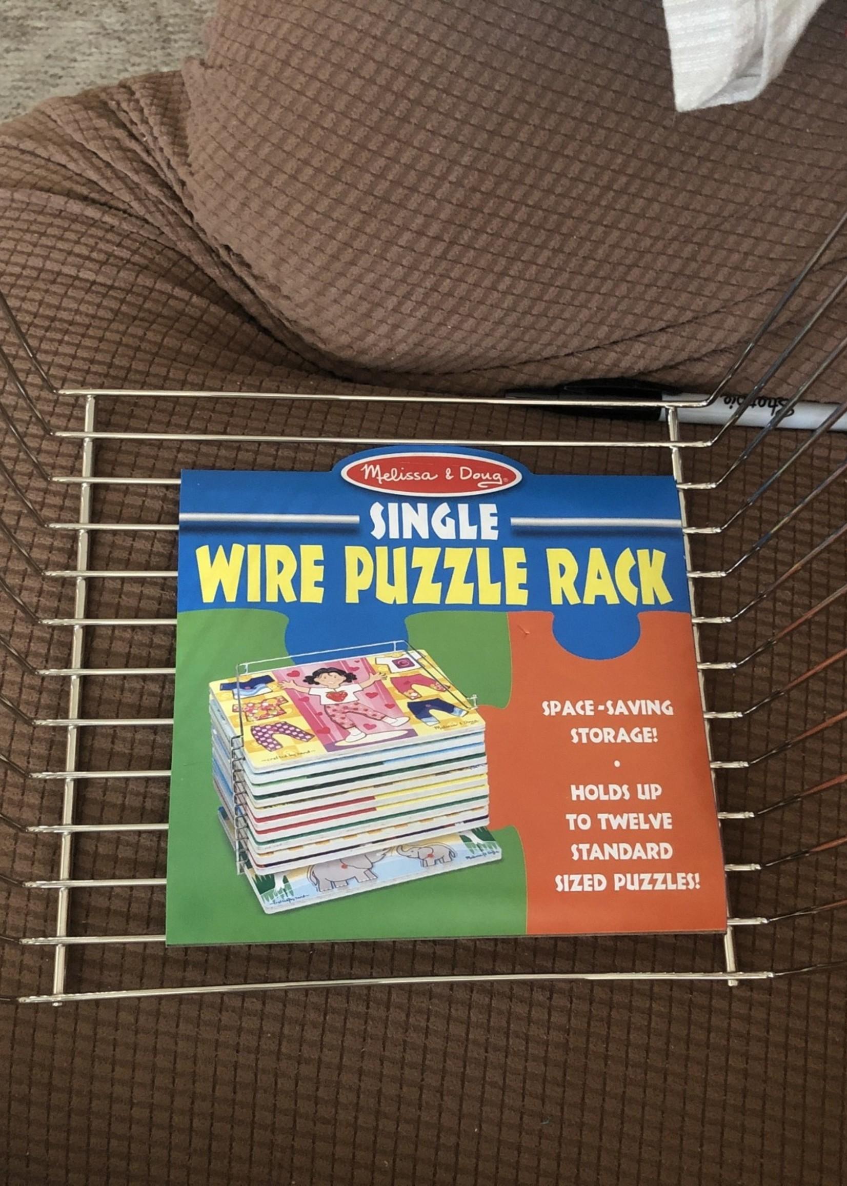 melissa doug puzzle storage rack wire rack holds 12 puzzles