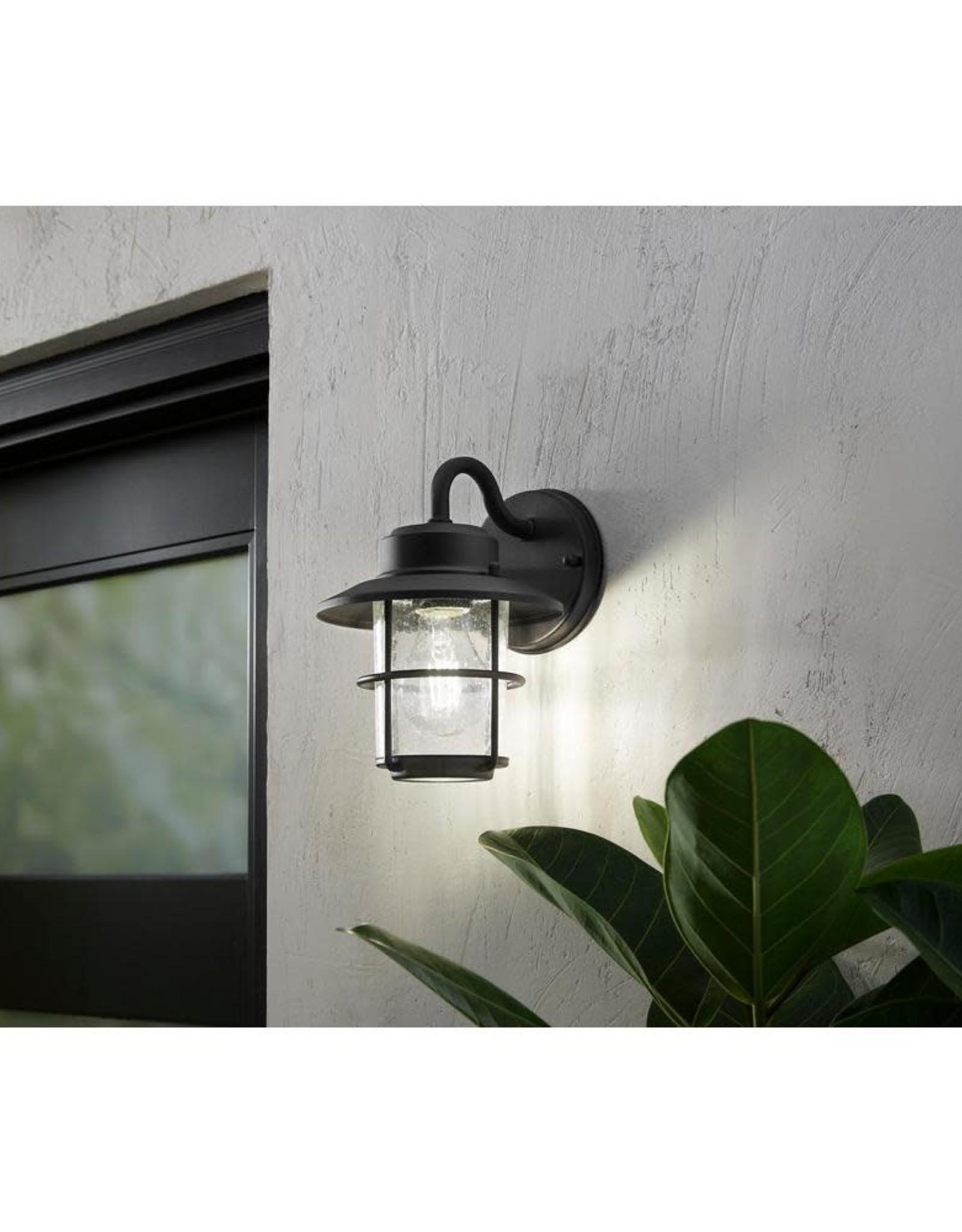 hampton bay 1 light black outdoor wall lantern sconce 2 pack 258 4530